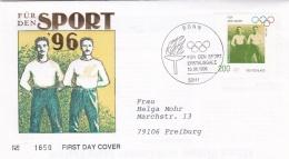 Germany 1996 FDC Centennial Olympic Games - Für Den Sport (DD14-3) - Summer 1996: Atlanta