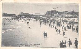 USA - Atlantic City - The Beach Front And Bathers 1908 - Atlantic City