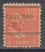 USA Precancel Vorausentwertungen Preo, Locals New York, Hempstead 243 - Vereinigte Staaten