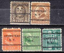USA Precancel Vorausentwertungen Preo, Locals New York, Hempstead 243, 5 Diff. Perf. 11x10 1/2 - Vereinigte Staaten