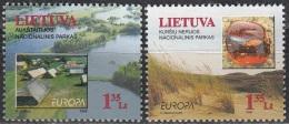 Lietuva 1999 Michel 693 - 694 Neuf ** Cote (2015) 4.50 Euro Europa CEPT Réserves Naturels - Lituanie