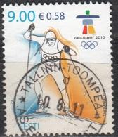 Eesti 2010 Michel 655 O Cote (2013) 1.20 Euro Jeux Olympiques Vancouver Ski De Fond Cachet Rond - Estonia