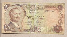 Giordania - Banconota Circolata Da 1/2 Dinaro - 1975/1992 - Giordania