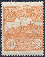 Stamp San Marino 1903 30c MH - Unused Stamps