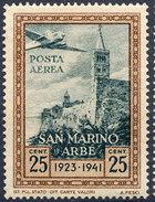 Stamp San Marino 1942 25c MH - Posta Aerea