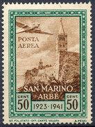 Stamp San Marino 1942 50c MH - Posta Aerea