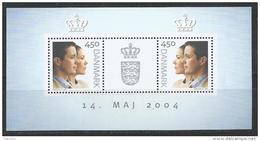 Danemark 2004 Bloc Feuillet N° 25 Neuf, Mariage Princier - Blocks & Sheetlets