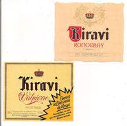 6 Etiquettes KIRAVI : Ronceray, Valpierre, Bienvenu Rouge, Rosé Et Blancs - Ste Des Vins De France, Vichy - - Vino Tinto