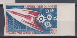 Niger 1964  PA42  Philatec Paris Imperf ND MNH - Briefmarkenausstellungen