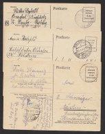 Brit. Zone, 3 Bedarfskarten, Alles Kleine Orte, Mi-Nr. P706, O - Bizone