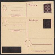 2 Karten Je Wertzeichen Und Spruch überdruckt In Versch. Varianten, Mi-Nr. DR P314II, * - Französische Zone