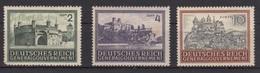 Deutsches Reich (Generalgouvernement) / Freimarken: Bauwerke /  MiNr.: 113. 114, 116 - Deutschland