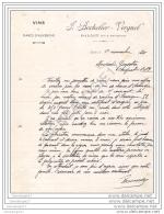 63 729  DALLET PUY DOME 1920 Vins Marcs D&acute  Auvergne J. BOCHOLIER Et VERGNOL Eaux De Vie ˆ Mr GENESTIER - Agriculture