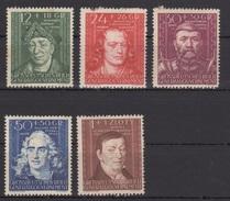 Deutsches Reich (Generalgouvernement) / Kulturträger /  MiNr.: 120-124 - Deutschland