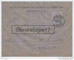 18 530 VIERZON CHER 1903 Ste Construction Mecanique BROUHOT Et Cie A FOUGERAT - 1877-1920: Période Semi Moderne