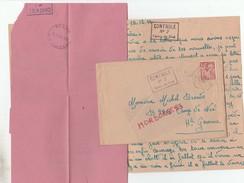 IRIS 1F SUR LAC CAMP DE NOE CENTRE DE SEJOUR SURVEILLE HTE GARONNE 16/12/44 - Marcophilie (Lettres)