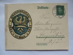 GERMANY 1931 Postcard Mi P190 8pf Jahrestag Der Volksabstimmung In Oberschlesien - Covers & Documents