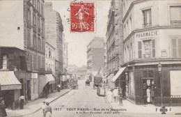 PARIS 17 EME  ARRONDISSEMENT  -  (75) - CPA TRÈS ANIMÉE 1908 - RUE DE LA JONQUIERE A LA RUE POUCHET. - District 17