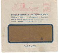 4274 VILLEFRANCHE/SAONE Rhône Lettre Entête Jacquemaire Blédina Bébé Maman EMA C 2109 1,50F Facture Ob 1943 - Enfance & Jeunesse
