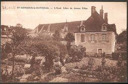 71 SAINT-GENGOUX-LE-NATIONAL école Libre De Jeunes Filles Photo Boury écrite 29 Novembre 1936 - Autres Communes