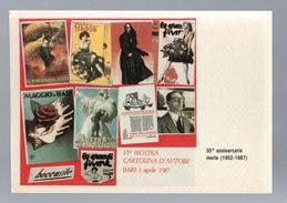 VIa Mostra CARTOLINA  D'AUTORE : 35° Anniversario Gino Boccasile   NON  VIAGGIATA  - Bari  1.04.1987 - Borse E Saloni Del Collezionismo