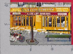 CARTOLINA NV FRANCIA - Cafe LES SPORTIFS - Galerie Naifs Et Primitifs PARIS - Pierre Pascal FURTH - 10 X 15 - Caffé