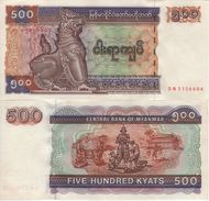 MYANMAR   500 Kyats    P76b  UNC - Myanmar
