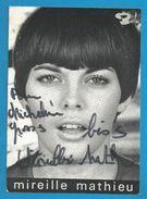 (A844) - Signature / Dédicace / Autographe Original - Mireille Mathieu - Chanteuse - Autographes