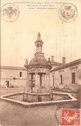 France & Circulated,  Place De Hotel-de Ville, Coutras, Condeon, Lisboa 1910 (9780) - Denkmäler
