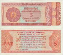 MYANMAR  (Burma)    5 Dollar  (Foreign Exchange Certificate)  PFX2     (ND 1983)  UNC - Myanmar