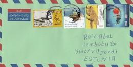 GOOD UAE Postal Cover To ESTONIA 2017 - Good Stamped: Diving ; Qasr Al Hosn ; Coralls ; Bird - Verenigde Arabische Emiraten