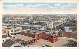 USA - Waco - View Of Highway Bridges Across Brazos River - Waco