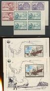 En Bloc De 4 Coin De Feuille Tirage De 35 Blocs En 1966  ANTARTIQUE 1391 - 1393 Et 2 Blocs - Navires & Brise-glace