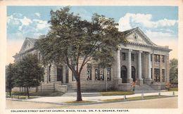 USA - Waco - Columbus Street Baptist Church - Dr. F. S. Groner Pastor - Waco