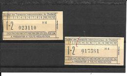 Tramways Tickets STIC ( Société Des Transports Intercommunaux De CHARLEROI ) - Tramways