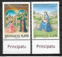 Monaco 2017 - Yv N° 3113 & 3114 ** - L'ANNONCIATION Et LA NATIVITE ** (émission Commune  Avec Le Vatican) - Monaco