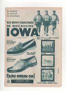"""Publicité  Les """"3 ETCHE"""" MAULEON-SAN REMO  Mocassins IOWA  1963 - Pubblicitari"""