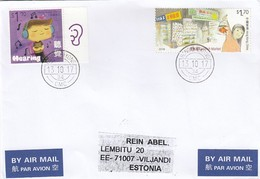 GOOD HONG KONG Postal Cover To ESTONIA 2017 - Good Stamped: Children / Music ; Goldfish Market ; Ninepin Island - 1997-... Chinese Admnistrative Region