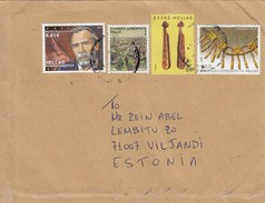 GOOD GREECE Postal Cover To ESTONIA 2017 - Good Stamped: Art ; Music ; People - Greece