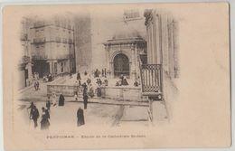 66 Perpignan Entrée De La Cathédrale Avec Muret TB Animée éditeur Brun Précurseur - Perpignan