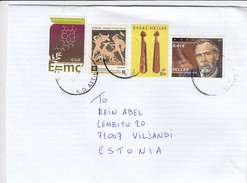 GOOD GREECE Postal Cover To ESTONIA 2017 - Good Stamped: Art ; Music ; Chemie - Greece