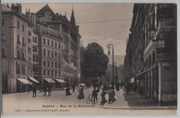 Geneve - Rue De La Corraterie, Tram, Animee - Photo: Charnaux Freres No. 5205 - GE Genève