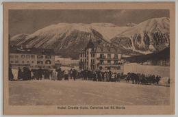 Hotel Cresta-Kulm, Celerina Bei St. Moritz - Im Winter, En Hiver, Pferdeschlitten, Animee - GR Grisons