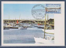 = La Trinité Sur Mer, Pont, Le Port Et Les Bateaux, Morbihan, 15 Fev 69, Premier Jour, 56 La Trinité Sur Mer, N°1585 - Cartes-Maximum