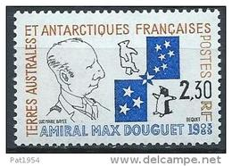 TAAF Neuf  N° 157 De 1991 Amiral Max Douguet - Unused Stamps