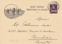 Werbekarte: Société Cantonale Neuchâteloise De Cavalerie. Mi.204x Von Neuchatel N. Neuchatel Am 19.VI.1931 - Publicité