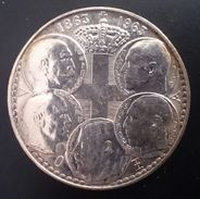"GREECE 30 DRACHMAI 1963 SILVER ""Centennial - Five Greek Kings"" Free Shipping Via Registered Air Mail - Grèce"