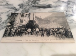 Cluses Fête De La Musique 1909 Départ Pour La Course - Cluses