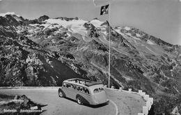 SUSTENSTRASSE → Steinalp, Altes Saurer Postauto In Den Kehren, Ca.1950 - BE Bern