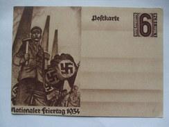 GERMANY -  1934 Postcard - Nationaler Feiertag 1934 - Allemagne